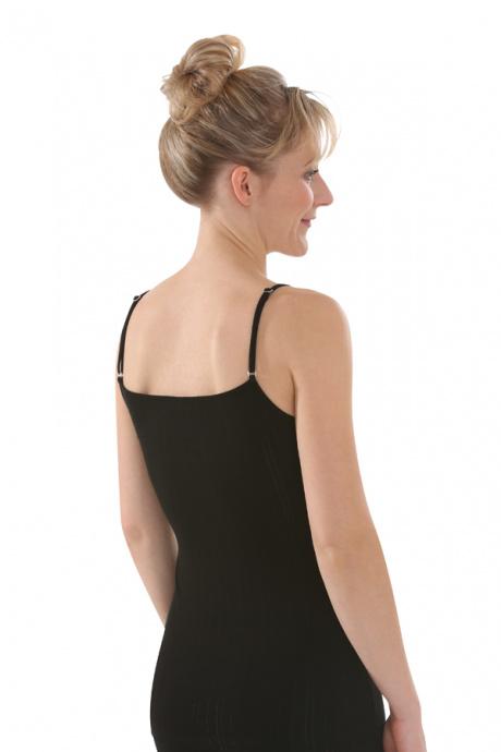 Comazo Biowäsche, Spaghettiträger-Hemd für Damen in schwarz