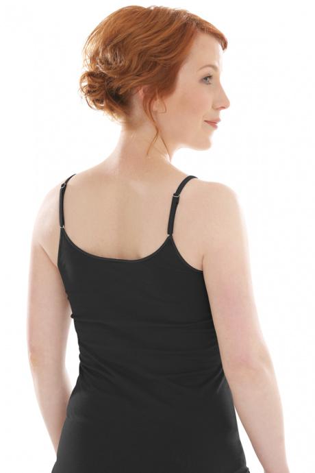 Comazo Biowäsche Damen Unterhemd in schwarz