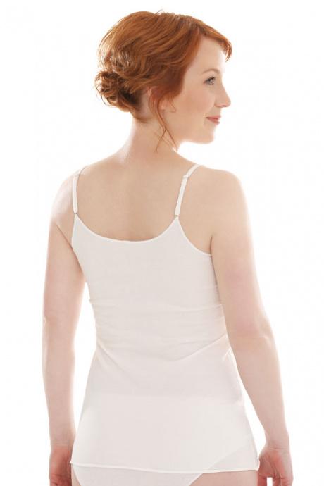 Comazo Biowäsche Damen Unterhemd in offwhite