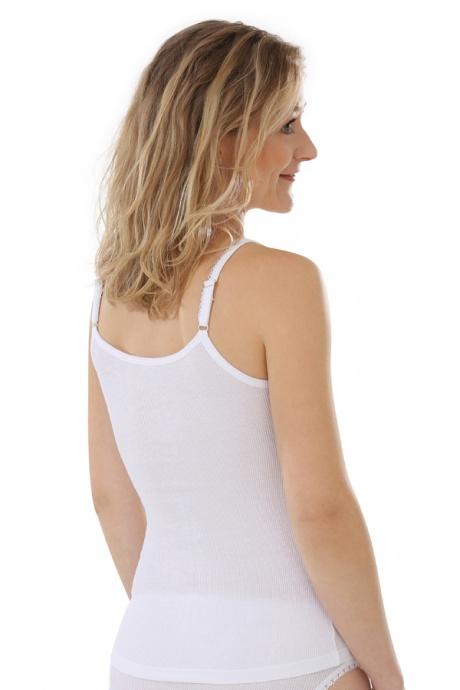 Comazo Biowäsche, Unterhemd für Damen in weiss - Rückansicht