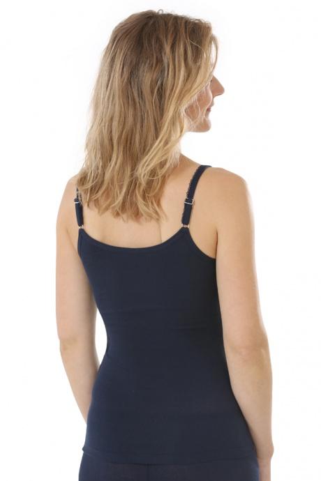 Comazo Biowäsche, Unterhemd für Damen in marine - Rückansicht