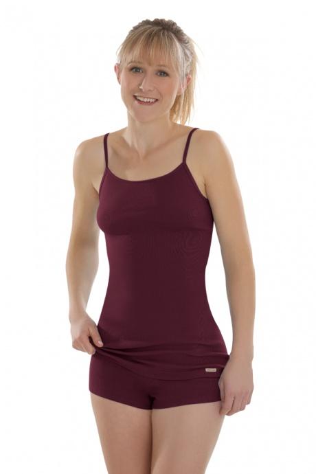 Comazo Lieblingswäsche, Spaghettiträger Unterhemd für Damen in burgund