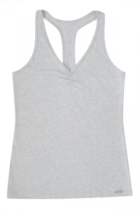 Comazo Biowäsche Damen Ringershirt in grau-melange
