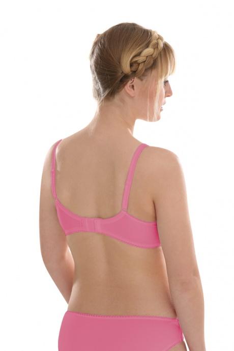 Comazo Unterwäsche, Push-Up BH mit Stickerei in pink - Rückansicht