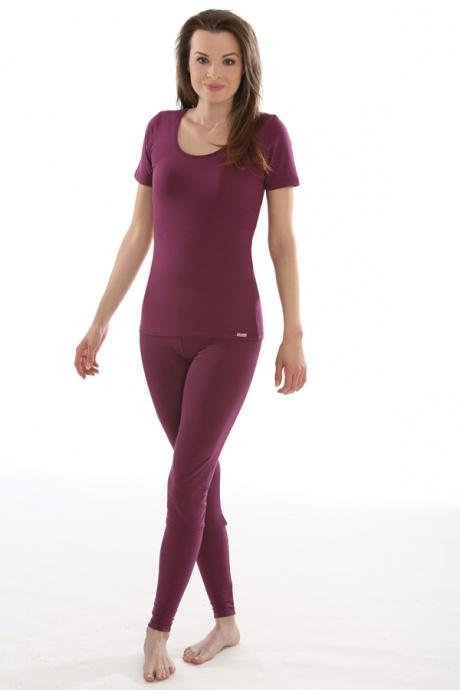 Comazo Biowäsche, Shirt für Damen in brombeer - Ganzansicht