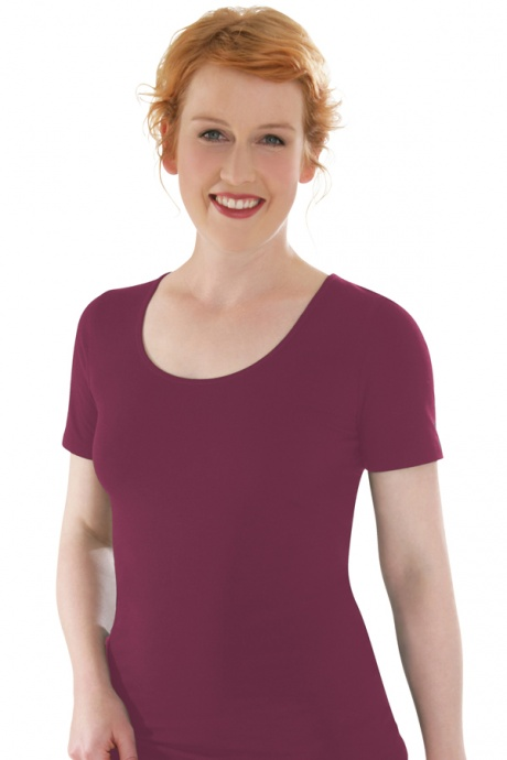 Comazo Biowäsche, Shirt für Damen in brombeer - Vorderansicht
