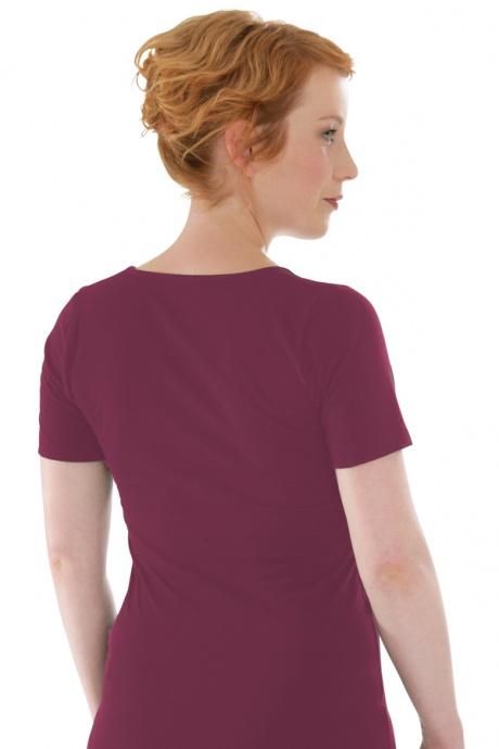 Comazo Biowäsche, Shirt für Damen in brombeer - Rückansicht
