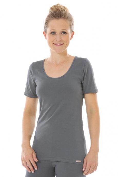 Comazo Biowäsche, Shirt für Damen in anthrazit - Vorderansicht