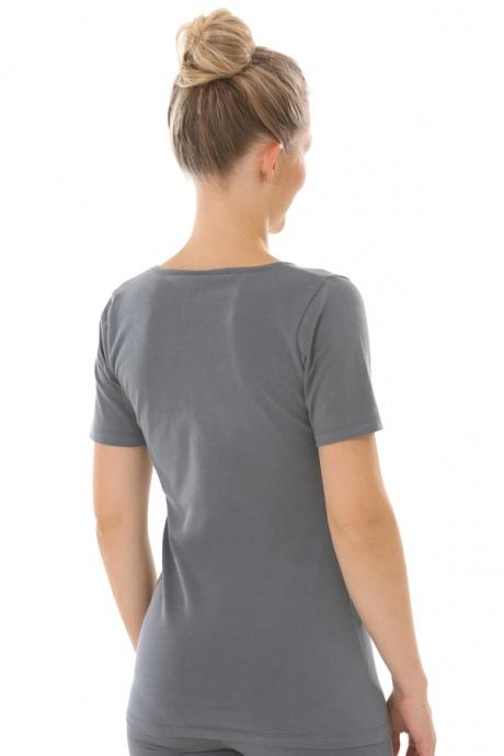 Comazo Biowäsche, Shirt für Damen in anthrazit - Rückansicht