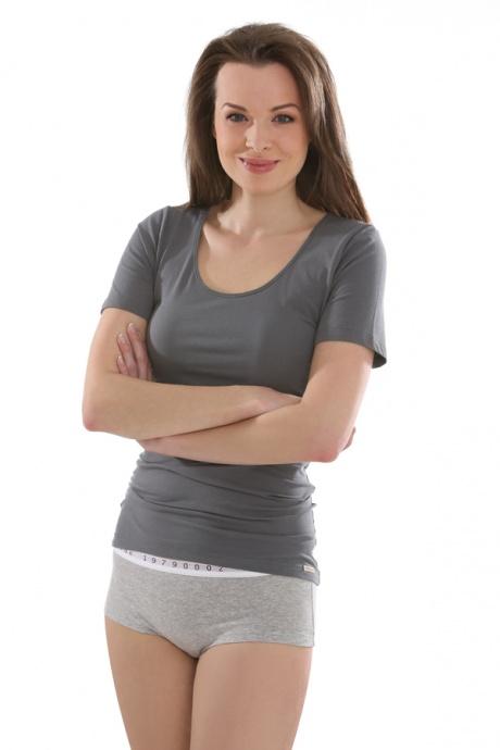 Comazo Biowäsche, Shirt für Damen in anthrazit - Ganzansicht
