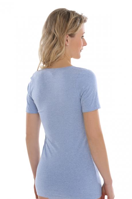 Comazo Biowäsche, Shirt für Damen in blau-melange