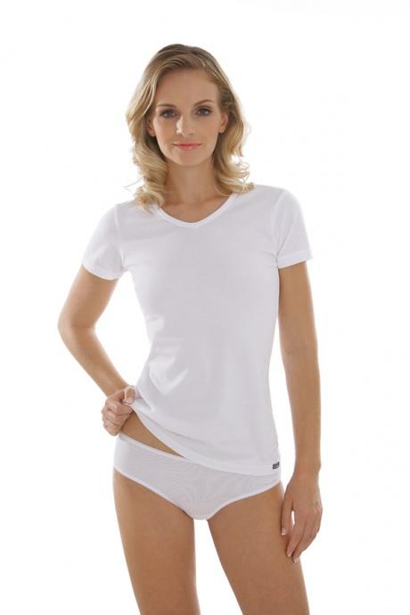 Comazo Unterwäsche, Kurzarm Shirt für Damen in weiss - Gesamtansicht