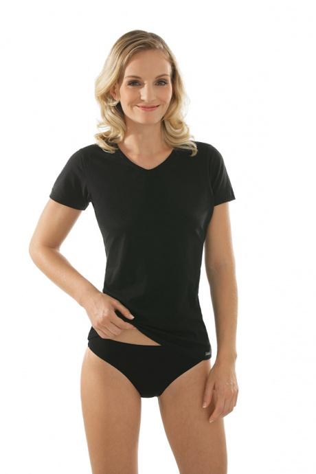 Comazo Unterwäsche, Kurzarm Shirt für Damen in schwarz - Gesamtansicht