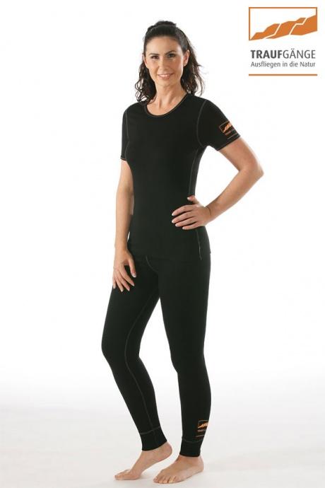 Comazo Funktionswäsche, Kurzarm Funktionsshirt für Damen schwarz - Gesamtansicht