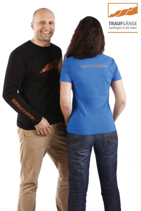 Comazo Biowäsche, Kurzarm Shirt für Damen in blau- Rückansicht