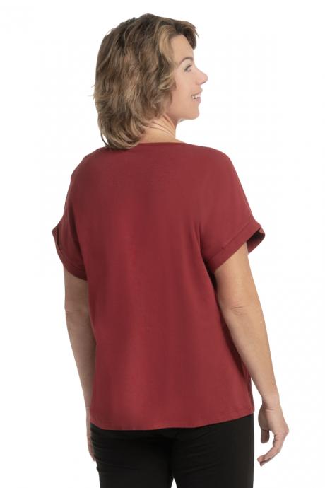 Comazo Biowäsche Damen Shirt mit Motivdruck in chianti