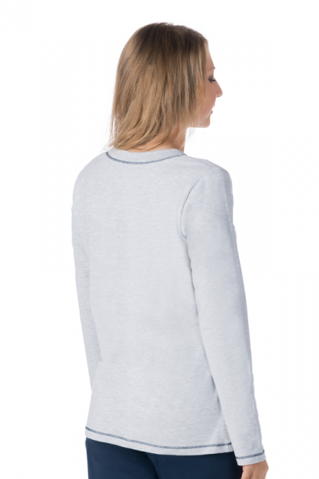 Comazo Lieblingswäsche Damen Shirt langarm in navy
