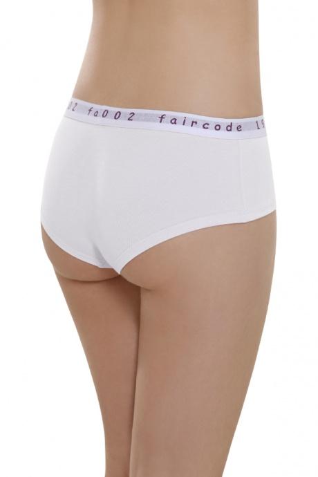 Comazo Biowäsche, Hot Pants low cut für Damen in weiss - Rückansicht