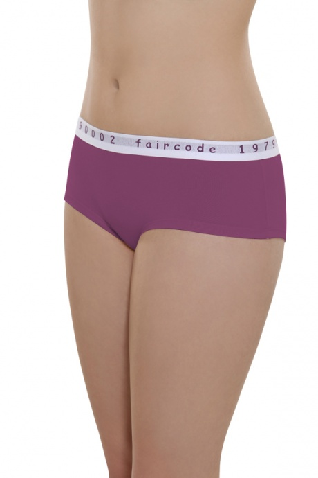 Comazo Biowäsche, Hot Pants low cut für Damen in plum - Vorderansicht