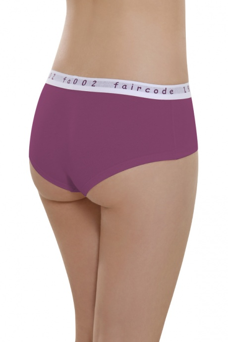 Comazo Biowäsche, Hot Pants low cut für Damen in plum - Rückansicht