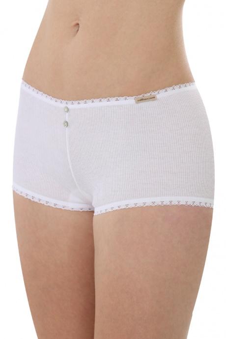 Comazo Biowäsche, Hot Pants für Damen in weiss - Vorderansicht