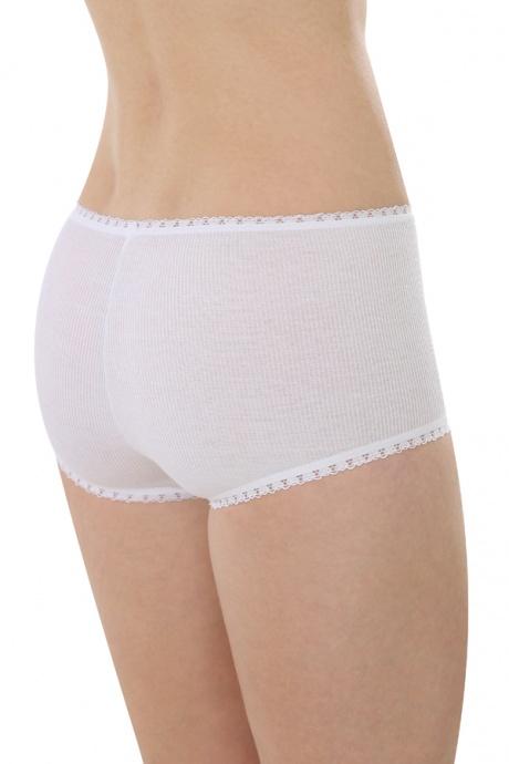 Comazo Biowäsche, Hot Pants für Damen in weiss - Rückansicht