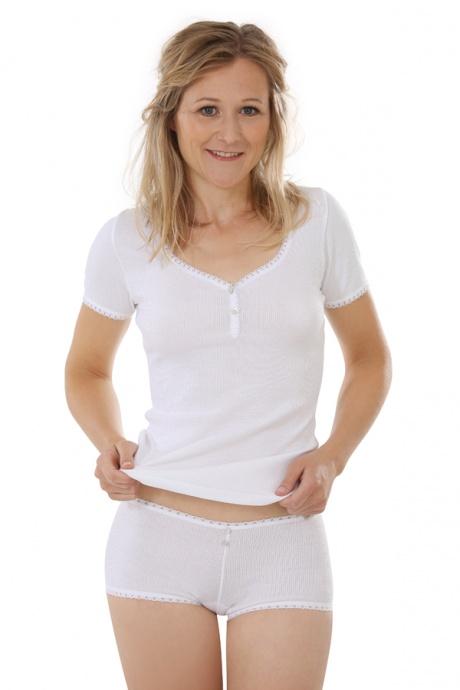 Comazo Biowäsche, Hot Pants für Damen in weiss - Gesamtansicht