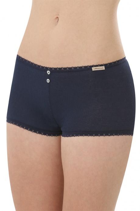 Comazo Biowäsche, Hot Pants für Damen in marine - Vorderansicht