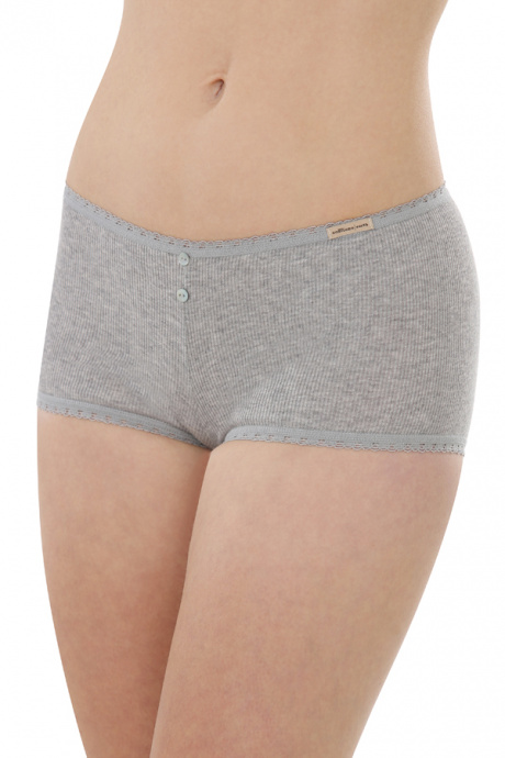 Comazo Biowäsche, Hot Pants für Damen in grau-melange - Vorderansicht