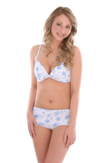 Comazo Lieblingswäsche, Hot Pants für Damen und Teenie in hellblau/navy