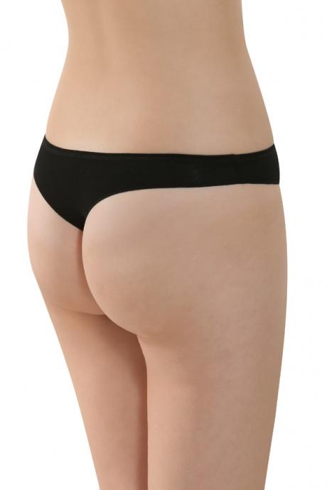 Comazo Biowäsche, String low cut für Damen in schwarz - Rückansicht