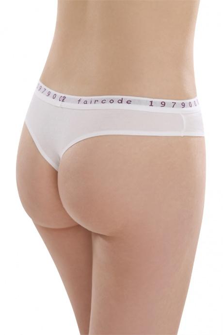 Comazo Biowäsche String low cut für Damen in weiss - Rückansicht
