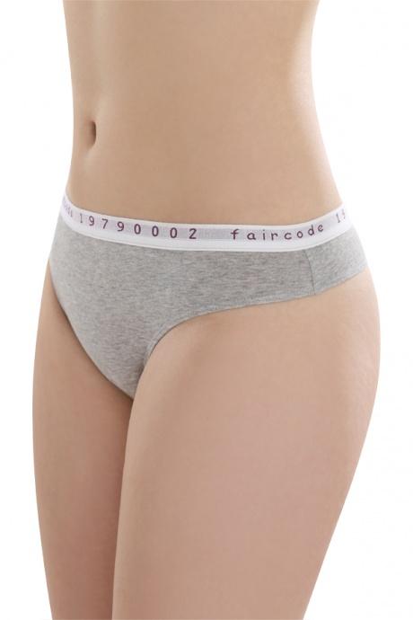 Comazo Biowäsche String low cut für Damen in grau-melange - Vorderansicht