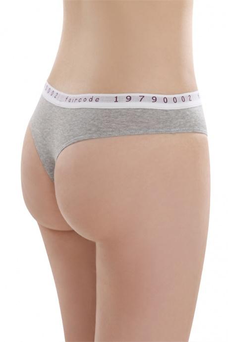 Comazo Biowäsche String low cut für Damen in grau-melange - Rückansicht