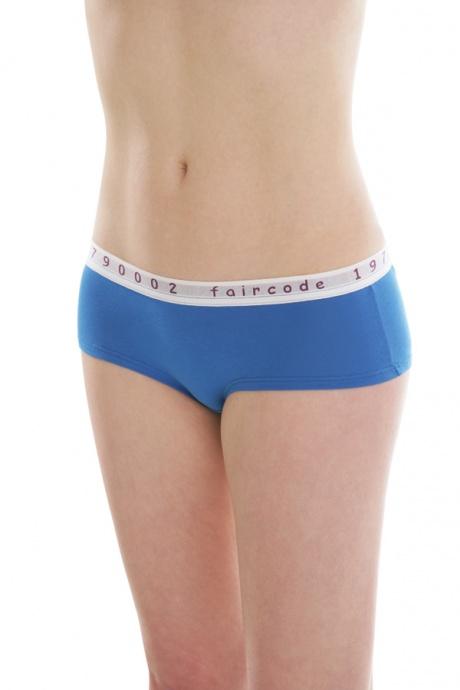 Comazo Biowäsche, Hot-Pants für Damen in blau - Vorderansicht