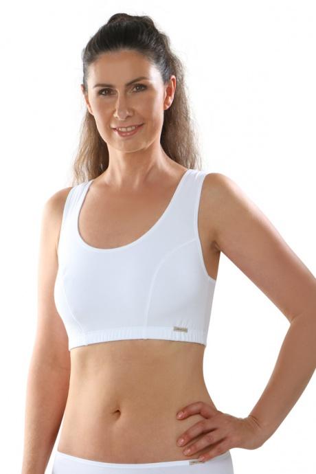 Comazo Biowäsche, Bustier für Damen in weiß - Vorderansicht