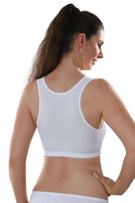 Comazo Biowäsche, Bustier für Damen in weiß - Rückansicht