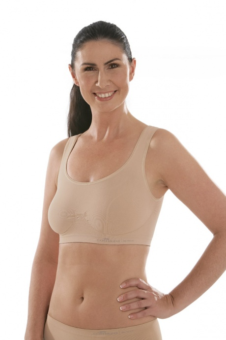 Comazo Funktionswäsche, Seamless Bustier für Damen in skin-Vorderansicht