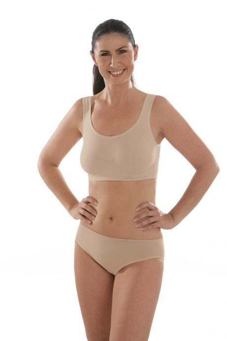 Comazo Funktionswäsche, Seamless Bustier für Damen in skin-Ganzkörperansicht