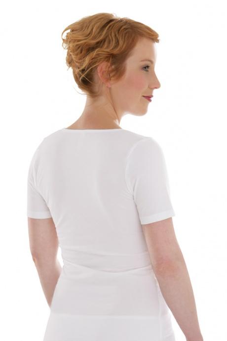 Comazo Biowäsche, Shirt für Damen in weiss - Rückansicht
