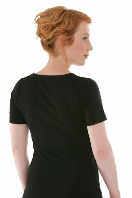 Comazo Biowäsche, Shirt für Damen in schwarz  - Rückansicht