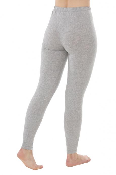 Comazo Biowäsche, Leggings für Damen in grau-melange - Rückansicht