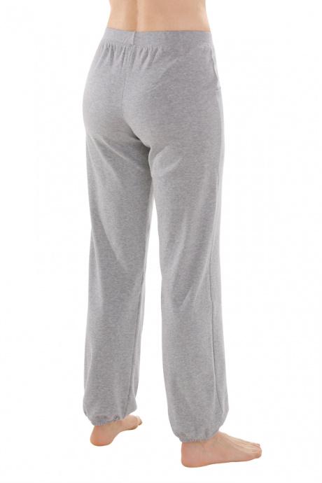 Comazo Biowäsche, Hose lang für Damen in grau-melange - Rückansicht