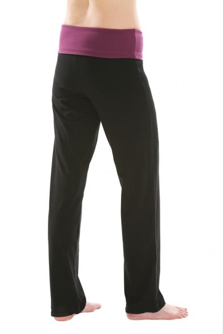 Comazo Biowäsche, Yogahose für Damen in schwarz - Rückansicht