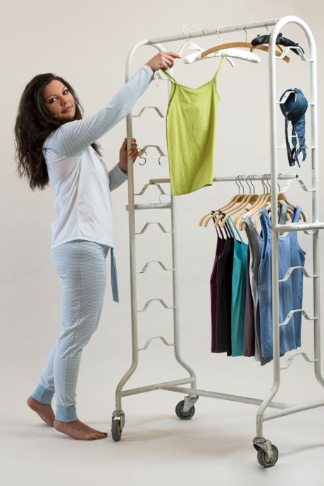 Comazo Nachtwäsche Damen Hose mit Bündchen  in blau-melange