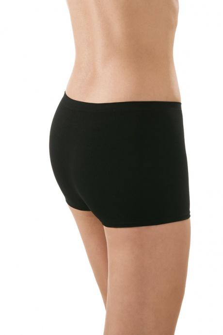 Comazo Funktionswäsche, Seamless Hot-Pants in schwarz - Rückansicht