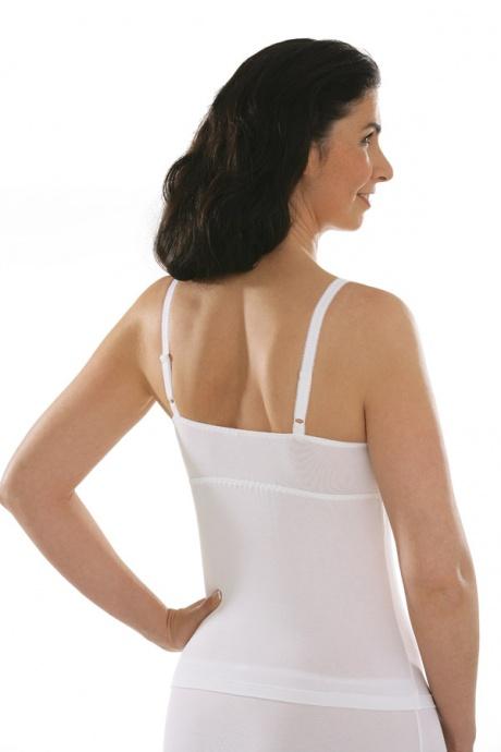 Comazo Unterwäsche, BH-Hemd für Damen in weiss - Rückansicht
