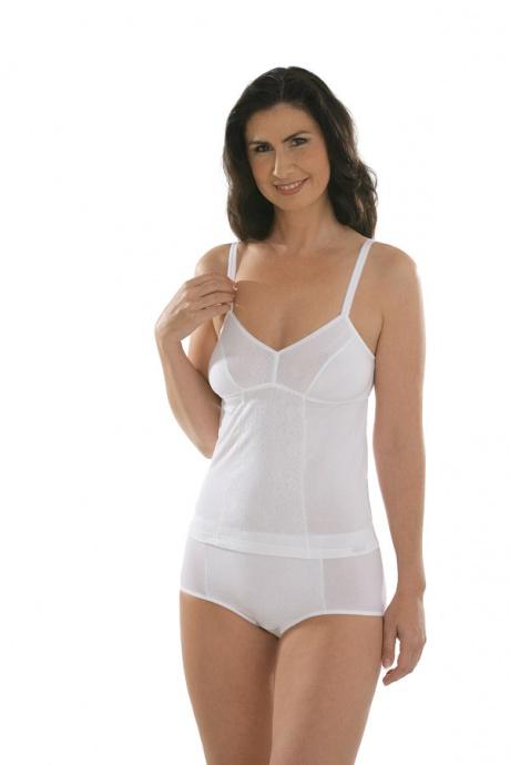 Comazo Unterwäsche, BH-Hemd für Damen in weiss - Gesamtansicht
