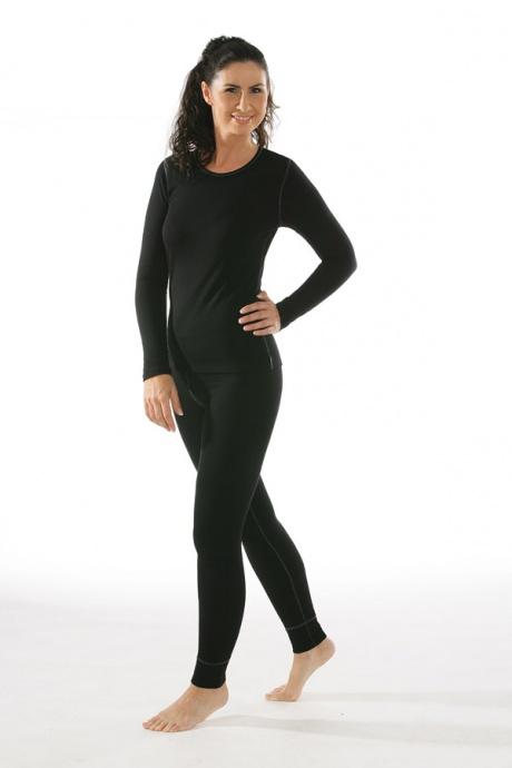 Comazo Funktionswäsche, Langarm Funktionsshirt für Damen schwarz - Gesamtansicht