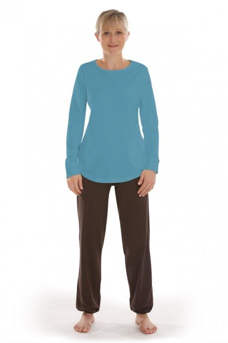 Comazo Biowäsche, Shirt langarm für Damen in bleu